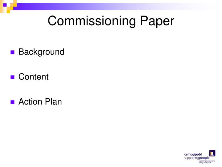 Commissioning Paper