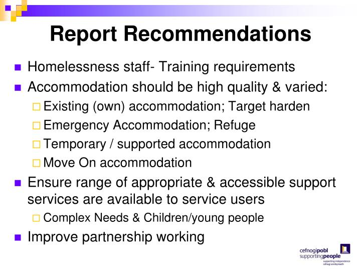 Report Recommendations