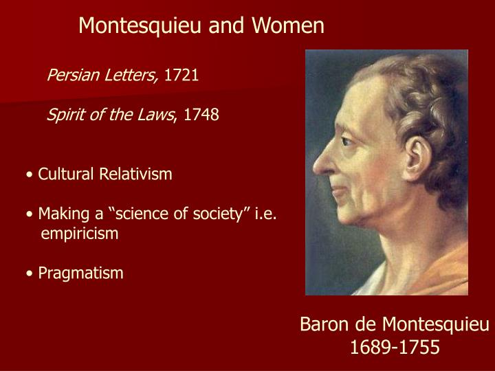 Montesquieu and Women