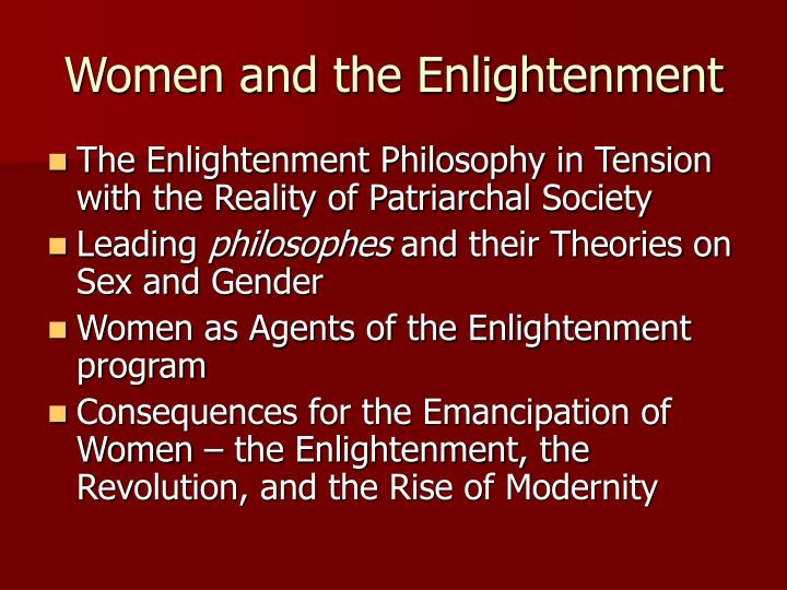 Women and the enlightenment1