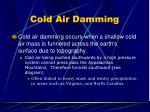 cold air damming