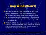 gap winds con t