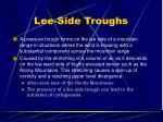 lee side troughs