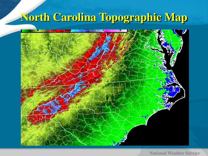 North Carolina Topographic Map
