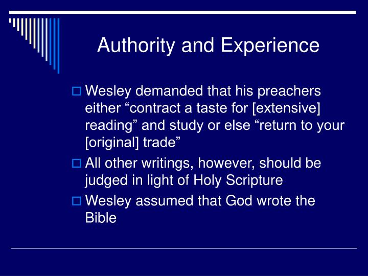 Authority and Experience