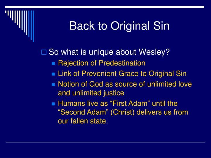 Back to Original Sin