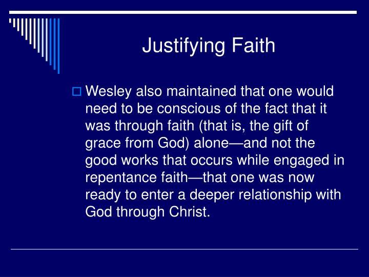 Justifying Faith