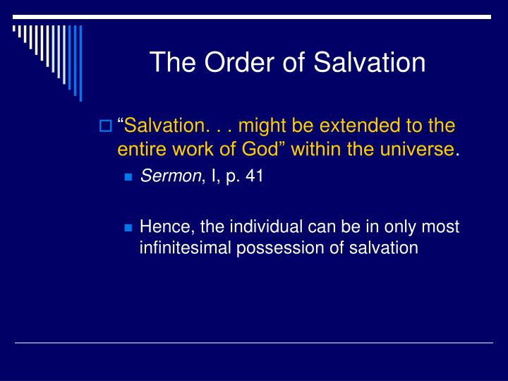 The Order of Salvation