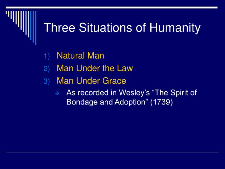 Three Situations of Humanity