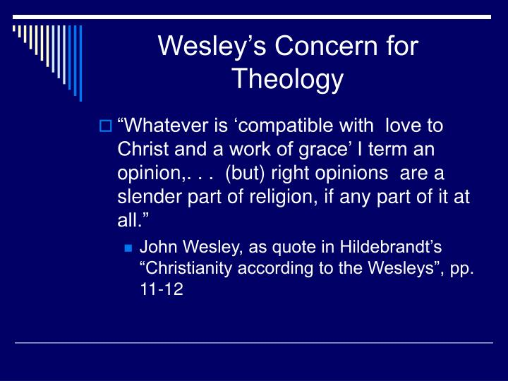Wesley s concern for theology1