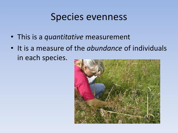 Species evenness