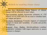 methods for modeling climate change