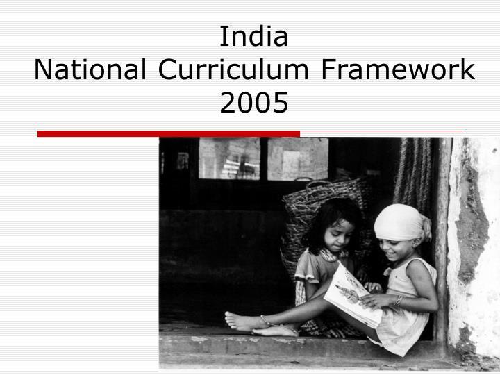 india national curriculum framework 2005 n.