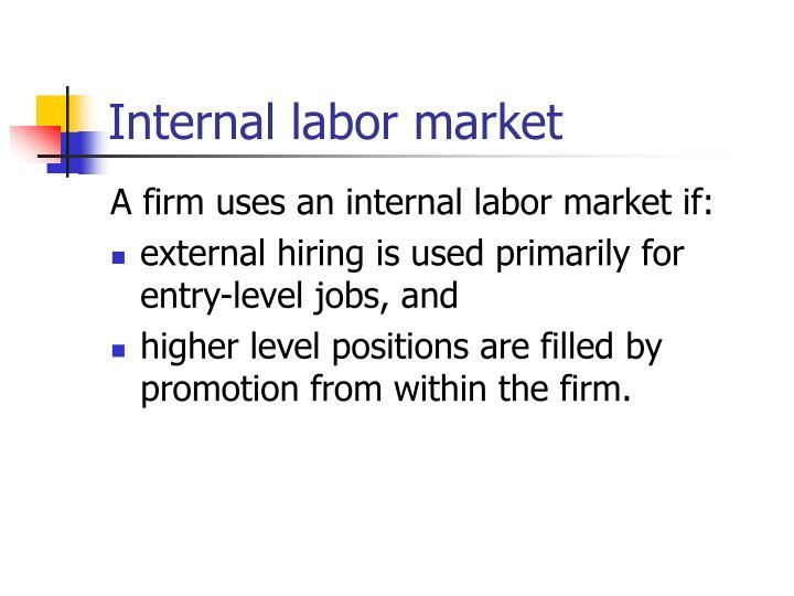 Internal labor market