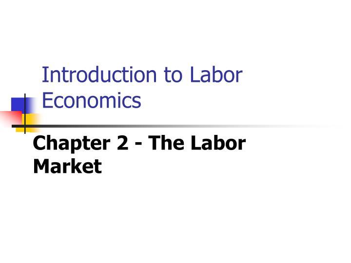 Introduction to labor economics