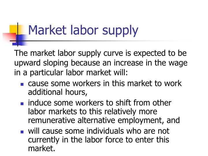 Market labor supply
