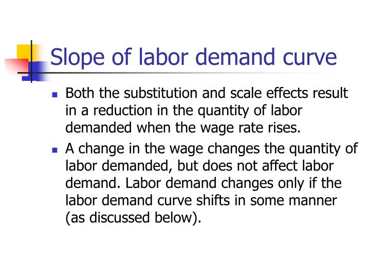 Slope of labor demand curve