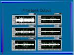 filterbank output
