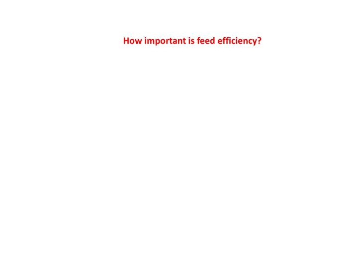 How important is feed efficiency?