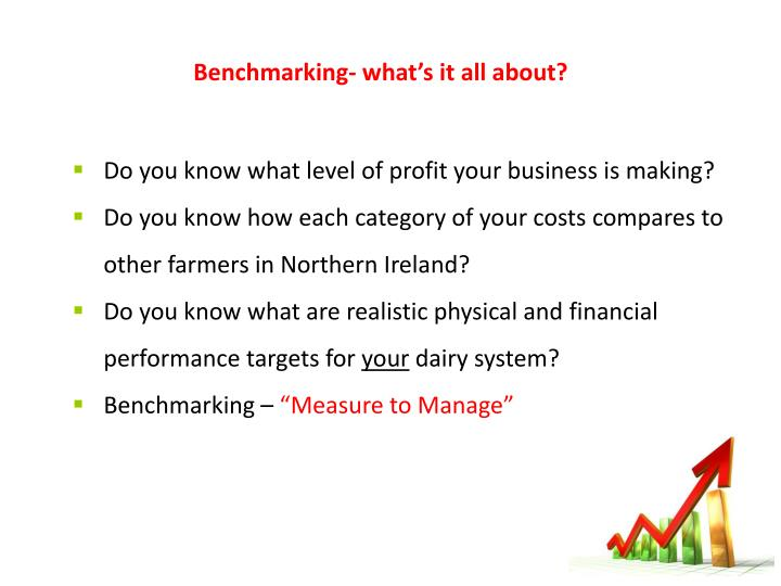 Benchmarking – what's it all about?