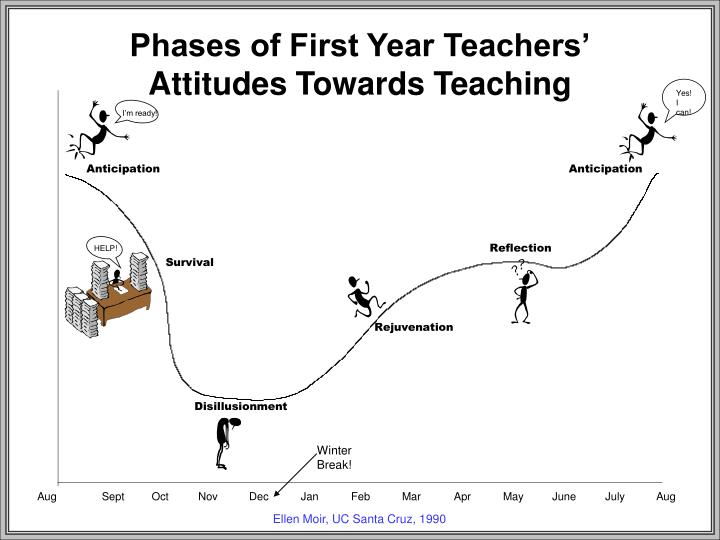 Phases of First Year Teachers'