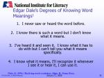 edgar dale s degrees of knowing word meanings 1