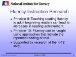 fluency instruction research