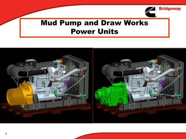 mud pump and draw works power units n.