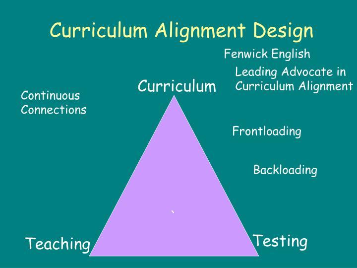 Curriculum Alignment Design