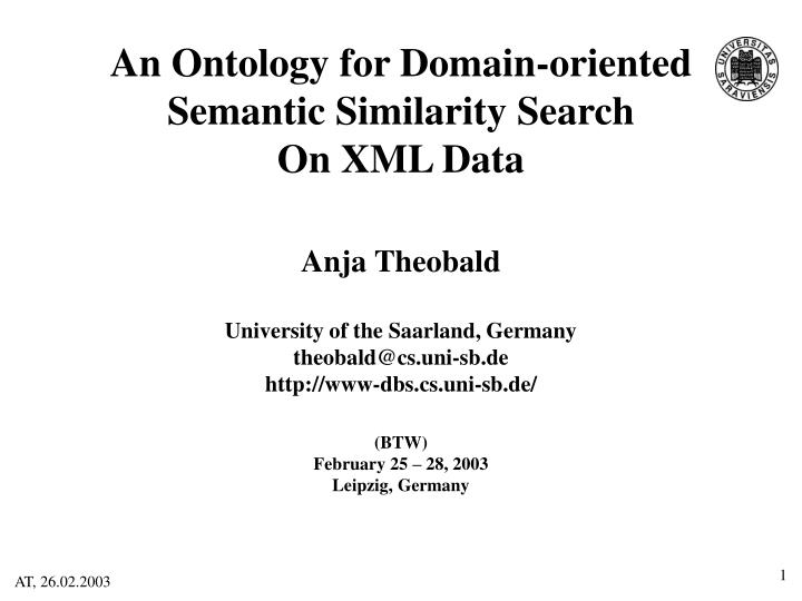 An Ontology for Domain-oriented