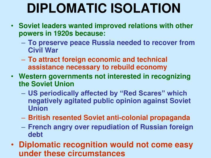 DIPLOMATIC ISOLATION