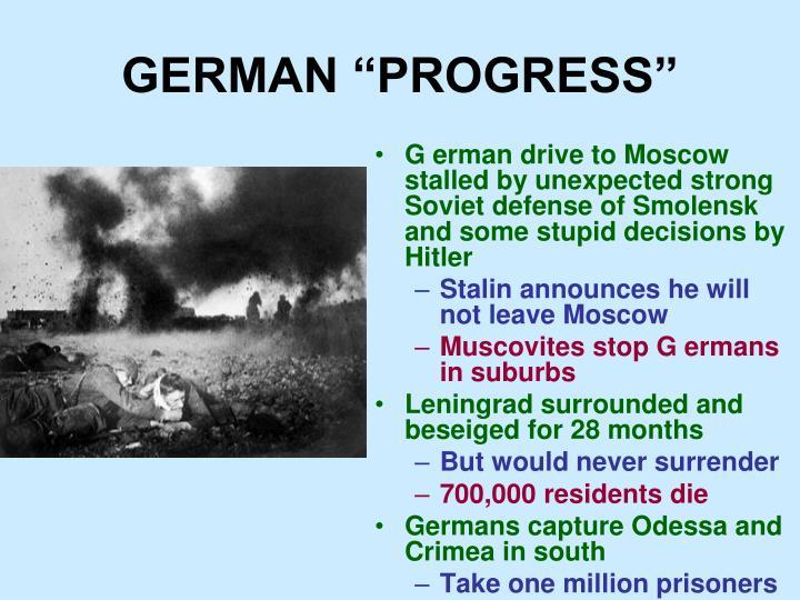 """GERMAN """"PROGRESS"""""""
