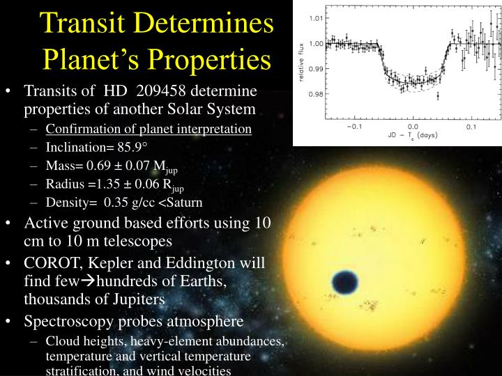 Transit Determines Planet's Properties