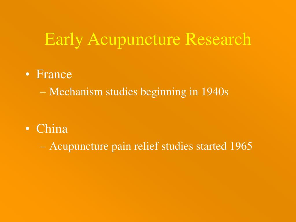 PPT - Acupuncture Mechanisms East Meets West PowerPoint
