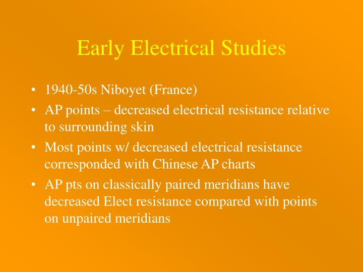 Early Electrical Studies