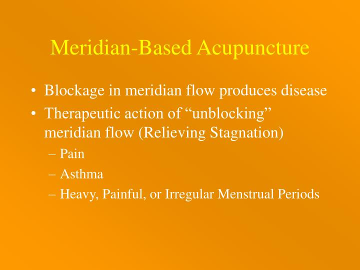 Meridian-Based Acupuncture