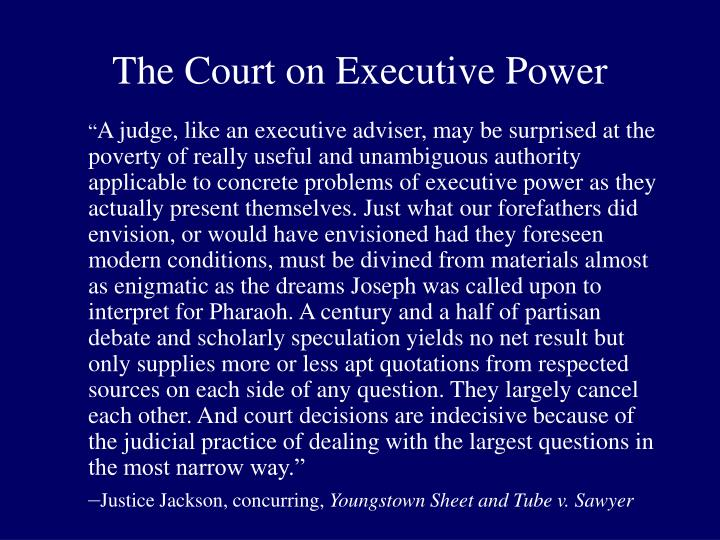 The court on executive power