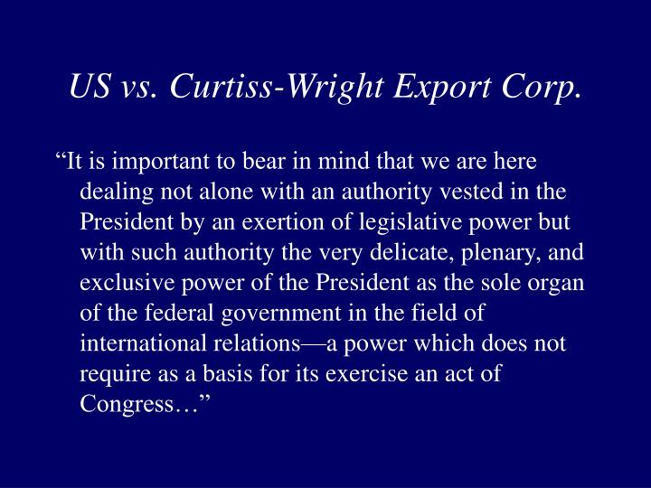 US vs. Curtiss-Wright Export Corp.