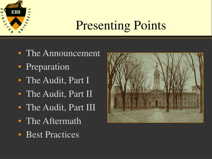 Presenting points