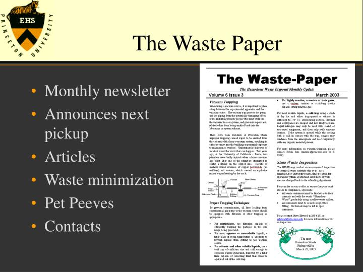 The Waste Paper