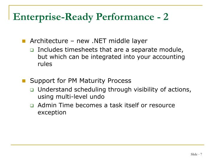 Enterprise-Ready Performance - 2