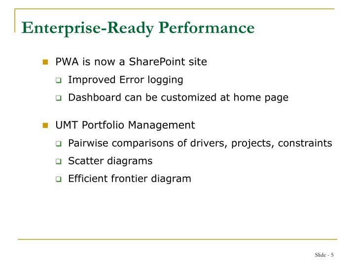 Enterprise-Ready Performance