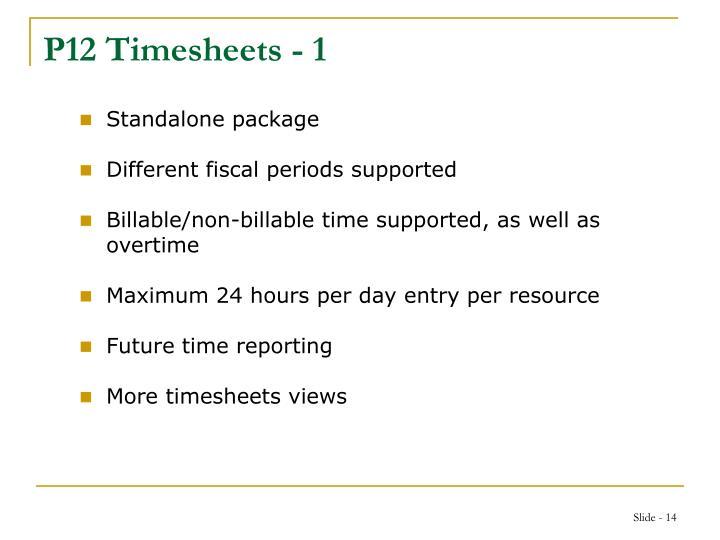 P12 Timesheets - 1