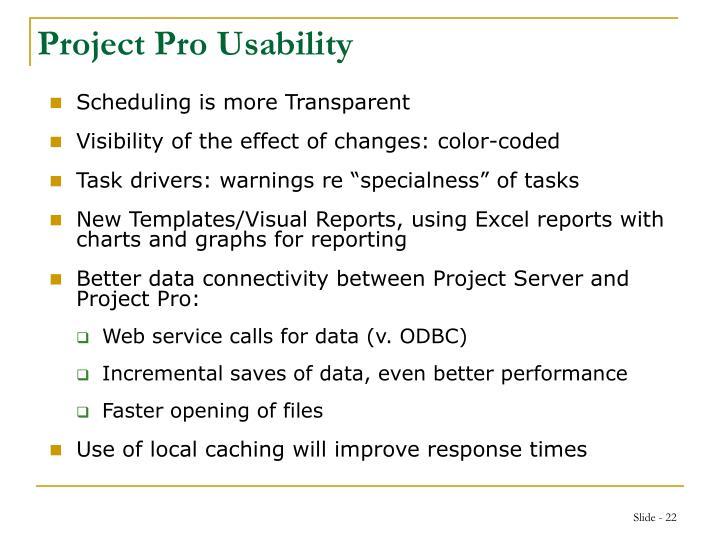 Project Pro Usability