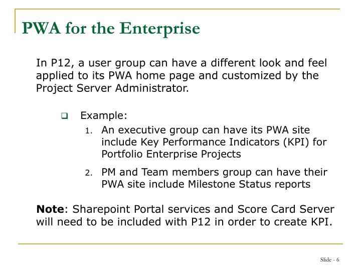 PWA for the Enterprise