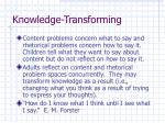 knowledge transforming