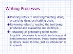 writing processes