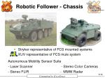 robotic follower chassis