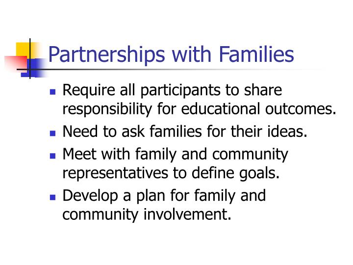 Partnerships with Families