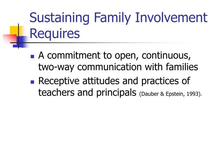 Sustaining Family Involvement